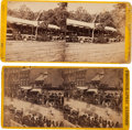"""Photography:Stereo Cards, Two """"Grand Review of the Great Veteran Armies of Grant and Sherman at Washington"""" Stereoviews, May 23-24, 1865...."""