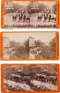 """Photography:Stereo Cards, Three """"Grand Review of the Great Veteran Armies of Grant and Sherman at Washington"""" Stereoviews, May 23-24, 1865.... (Total: 3 )"""