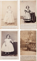 """Photography:CDVs, Four Cartes de Visite Featuring the """"Redeemed Slave Child.""""... (Total: 4 )"""