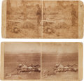 Photography:Stereo Cards, Two Stereoviews Featuring the Dead of the Battle of Antietam.... (Total: 2 )