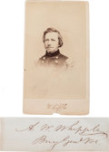 Photography:CDVs, Union General Amiel W. Whipple Carte de Visite and Clipped Signature.... (Total: 2 )