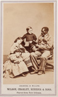 Photography:CDVs, Carte de Visite Featuring Four New Orleans Slaves....