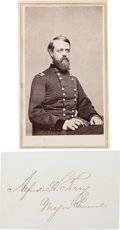 Photography:CDVs, Union General Alfred H. Terry Carte de Visite and Clipped Signature.... (Total: 2 )