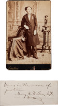 Photography:Cabinet Photos, Mary E. Walker Cabinet Card and Clipped Signature.... (Total: 2 )