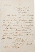 Autographs:Military Figures, Union General Philip Kearny Autograph Letter Signed...