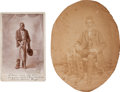 Photography:Cabinet Photos, Two Photographs of Slaves (or Freedmen).... (Total: 2 )
