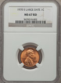 Lincoln Cents: , 1970-S 1C Large Date MS67 Red NGC. NGC Census: (24/0). PCGS Population (23/0). Mintage: 693,192,832. Numismedia Wsl. Price ...
