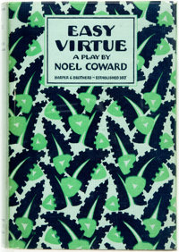 Noel Coward. Easy Virtue. A Play in Three Acts. New York: Harpers, 1926. Publisher's binding an