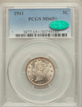 1911 5C MS65+ PCGS. CAC. PCGS Population (227/43). NGC Census: (162/26). Mintage: 39,559,372. Numismedia Wsl. Price for...