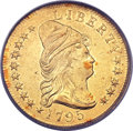 Early Eagles, 1795 $10 13 Leaves -- Damaged -- PCGS Genuine. BD-1, High R.3....
