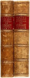 Books:Literature Pre-1900, Mateo Aleman. Guzman de Alfarache. Edited by Julio Cejador.[N.p., n.d.]. Two volumes. Nineteenth-century tree calf ... (Total:2 Items)