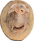 "Movie/TV Memorabilia:Props, A 'Vogon' Large Animatronic Face Mask from ""The Hitchhiker's Guideto the Galaxy.""..."
