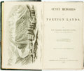 Books:Literature Pre-1900, Stowe, Harriet Beecher. Sunny Memories Of Foreign Lands. London: Sampson Low, Son, & Co., 1854. 8vo. [3 ads], vii-xv...