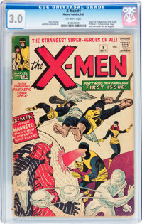 X-Men #1 (Marvel, 1963) CGC GD/VG 3.0 Off-white pages