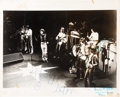 Music Memorabilia:Autographs and Signed Items, Rolling Stones Signed Black and White Photograph (Circa 1972)....