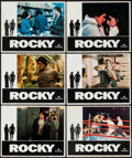 "Movie Posters:Academy Award Winners, Rocky (United Artists, 1977). Lobby Cards (6) (11"" X 14"") & OneSheet (27"" X 41"") Academy Awards Style B. Academy Award Winn...(Total: 7 Items)"