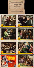"Movie Posters:Drama, The Human Comedy (MGM, 1943). Lobby Card Set of 8 (11"" X 14""). Drama.. ... (Total: 8 Items)"