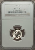 Roosevelt Dimes, 1983-D 10C MS67 Full Bands NGC. PCGS Population (1/0). Mintage: 730,129,216.. From The Paul Kiraly #1 ...
