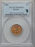 Indian Cents, 1909 1C MS66 Red PCGS....