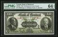 Canadian Currency: , Montreal, PQ- Bank of Montreal $10 Jan. 2, 1923 Ch. # 505-56-04....