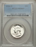 Washington Quarters: , 1936-D 25C MS64+ PCGS. PCGS Population (672/433). NGC Census:(312/215). Mintage: 5,374,000. Numismedia Wsl. Price for prob...