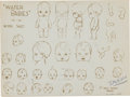 animation art:Model Sheet, Water Babies Printed Model Sheet Animation Art Group (WaltDisney, 1935).... (Total: 3 Items)