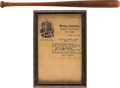 Baseball Collectibles:Bats, 1921 Babe Ruth Personally Documented Home Run Bat Attributed to Record 59th of the Season, PSA/DNA GU 10....