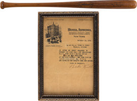 Featured item image of 1921 Babe Ruth Personally Documented Home Run Bat Attributed to Record 59th of the Season, PSA/DNA GU 10....