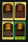 Baseball Collectibles:Others, Baseball Negro League Greats Signed Post Cards Lot Of 4. ...