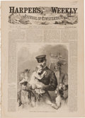 """Miscellaneous:Newspaper, [George A. Custer]. Harper's Weekly. Sixteen pages(paginated 481-496), 11.25"""" x 15.75"""", New York, August 3, 1867.O..."""