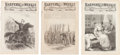 Miscellaneous:Newspaper, [Newspaper]. Three Issues of Harper's Weekly. Issues includethose of March 19 and November 12, 1864, and May 29, 18...