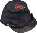 Military & Patriotic:Civil War, Identified Forage Cap with Original 1st Division 2nd Corps Badge 140th Pa....
