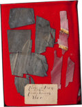 Military & Patriotic:Civil War, Remnants From the Flag of the 140th Pennsylvania Infantry....