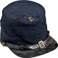 Military & Patriotic:Civil War, Federal Forage Cap By Lewis J. & Issac Phillips...