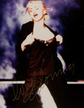 Movie/TV Memorabilia:Autographs and Signed Items, A Madonna Signed Color Photograph, Circa 1990s....