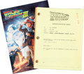 "Movie/TV Memorabilia:Documents, A Script from ""Back to the Future Part III.""..."