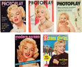 Movie/TV Memorabilia:Documents, A Marilyn Monroe Group of Magazines, 1950s.... (Total: 5 Items)