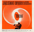 "Movie Posters:Hitchcock, Vertigo (Paramount, 1958). Six Sheet (79"" X 81"").. ..."