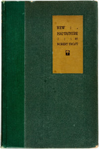 [Featured Lot] Robert Frost. SIGNED. New Hampshire. New York: Henry Holt & Company, 1923. First