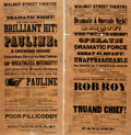Books:Prints & Leaves, Two Broadsides Advertising Performances at the Walnut StreetTheatre. 1851. Both measure about 20 x 10 inches. Folded, with ...