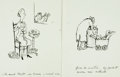 Books:Original Art, [Original Art]. Marc Simont. Two Unused Original Pen and Ink Drawings. 1960. Larger measures 7.5 x 11.25 inches. Fine. Fro...