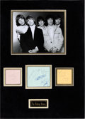 Music Memorabilia:Autographs and Signed Items, Rolling Stones Group Of Autographs, Early 1960s....