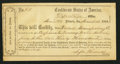 Confederate Notes:Group Lots, Interim Depositary Receipt Marietta, GA- $30,000 Mar. 18, 1864Tremmel GA-90a.. ...