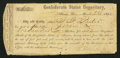 Confederate Notes:Group Lots, Interim Depositary Receipt Athens, GA- $100 Mar. 24, 1864 TremmelGA-9.. ...
