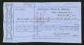 Confederate Notes:Group Lots, Interim Depositary Receipt Morganton, NC- $1,000 Oct. 20, 1864Tremmel NC-91.. ...