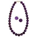 Estate Jewelry:Suites, Amethyst Bead Jewelry Suite. ... (Total: 2 Items)