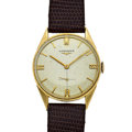 Timepieces:Wristwatch, Longines 14k Gold Manual Wind Wristwatch. ...