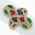 Estate Jewelry:Rings, Emerald, Ruby, Sapphire, Diamond, Gold Ring. ...