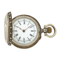 Timepieces:Pocket (pre 1900) , Swiss Sterling Silver Hunter's Case Pocket Watch. ...