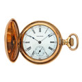 Timepieces:Pocket (pre 1900) , Waltham 15 Jewel Hunter's Case Pocket Watch. ...